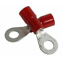 ELEMATIC 11201143 - Rengaskaapelikenkä 0,25-1,5mm2 M4 Punainen - 100kpl