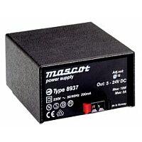 MASCOT 8937 SM - 5-24V 18W Virtalähde AC/DC koteloitu