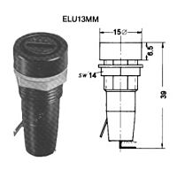 SIBA ELU13MM - Sulakepesä Salekoko 5 x 20mm Pystymalli Piirilevylle