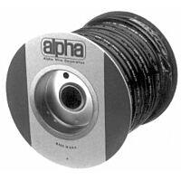 ALPHA PVC-105-7 100FT - SUOJASUKKA 3.66-4.01mm 30.5m MUSTA