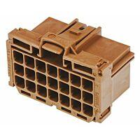 TE 8-968975-1 - AMP MCP 21 Nap Naaras Liitinrunko Wire-to-Wire - Ruskea