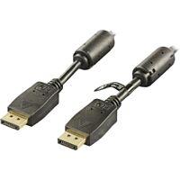 YES DP-1020 - DisplayPort-kaapeli 2m musta