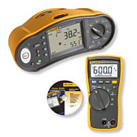 FLUKE 1663 Multifunction installation tester and FLUKE114 Digital Multimeter including FVF software