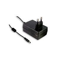 12V Virtalähde 1.5A 18W Plug-in DC-liitin 2,1 x 5,5mm - MEAN WELL GSM18E12-P1J