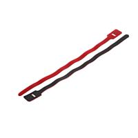 Red hook & loop cable tie