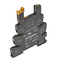 Schrack ST3FLC4 - Relekanta DIN-kisko Slimline releille - Leveys 6.2mm